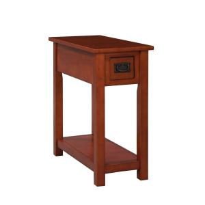 Internet #205507652. Alaterre Furniture Cherry Storage Side Table