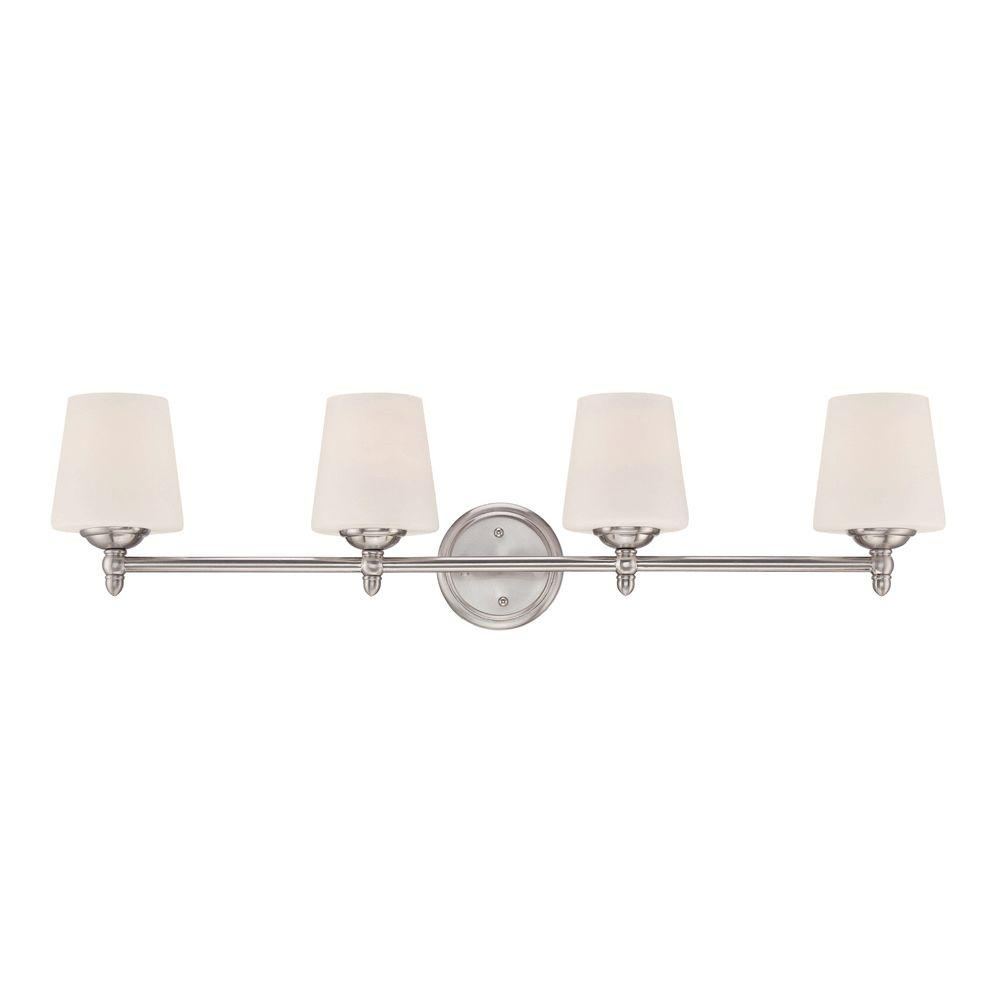 Darcy 4-Light Brushed Nickel Bath Bar Light