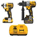 20-Volt MAX Lithium-Ion Cordless Brushless Combo Kit (2-Tool) with FLEXVOLT and 20-Volt Battery and Charger