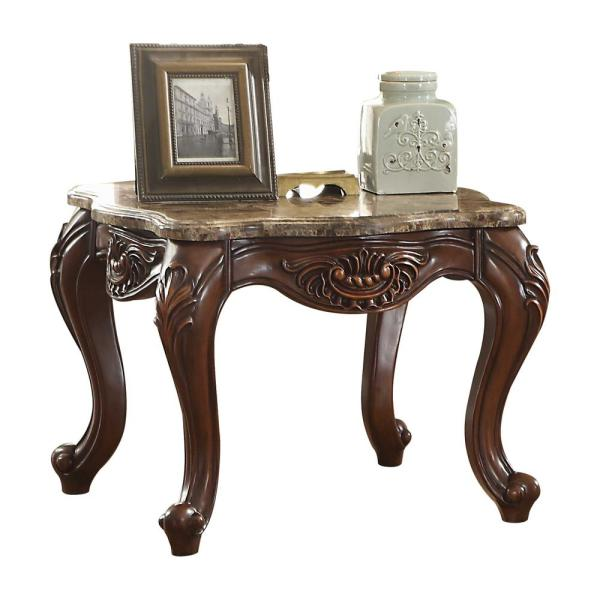 Amelia Cherry Oak Traditional End Table