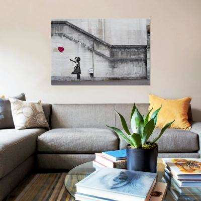 """40 in. x 26 in. """"There Is Always Hope Balloon Girl"""" by Banksy Printed Canvas Wall Art"""