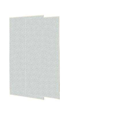 1/4 in. x 36 in. x 72 in. Two Piece Easy Up Adhesive Shower Wall Panels in Tahiti Gray