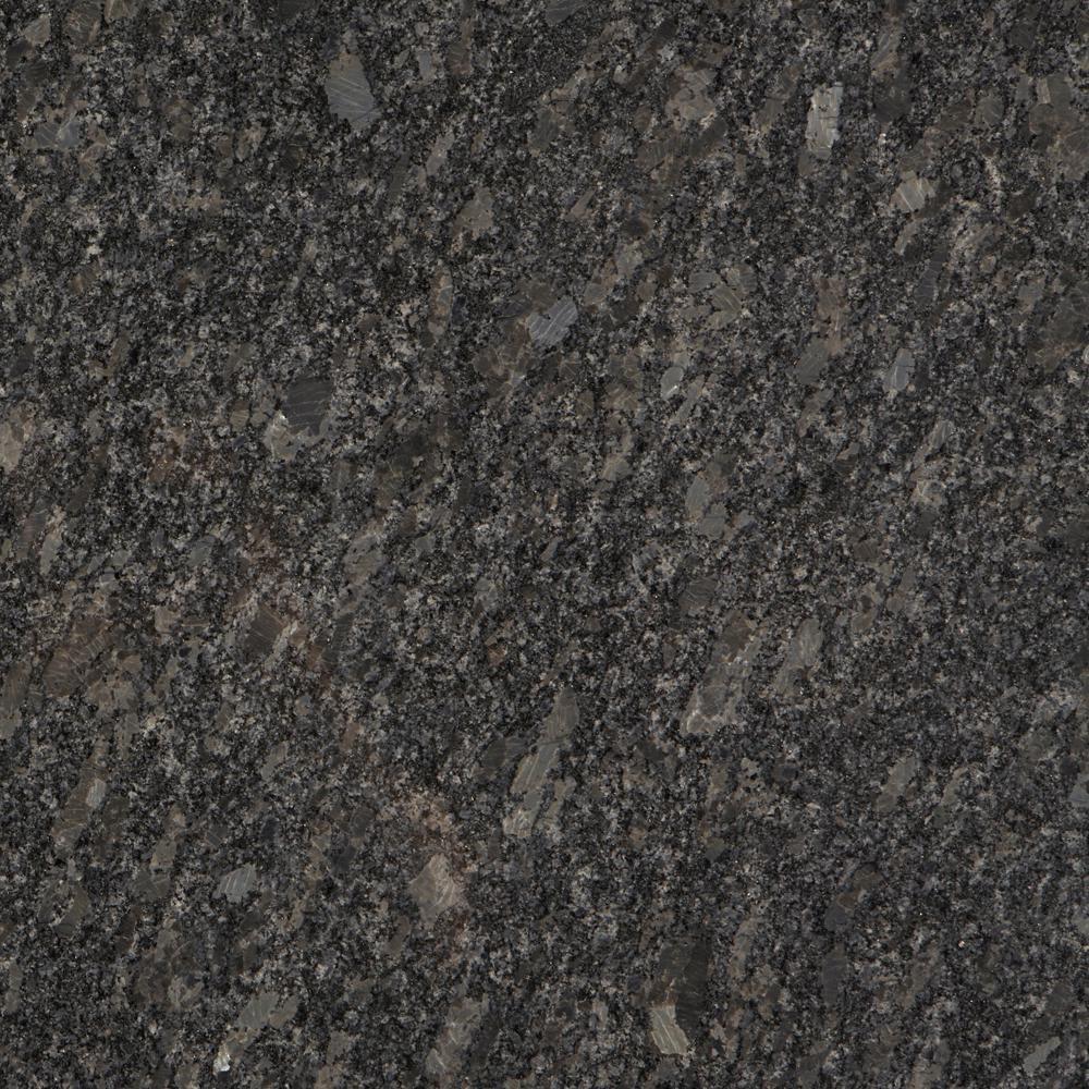 Stonemark Granite 3 in. x 3 in. Granite Countertop Sample in Steel Grey