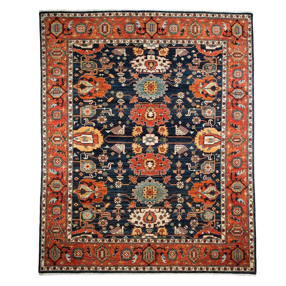 Darya Rugs Ziegler Blue 8 Ft 3 In X 9 Ft 10 In Indoor