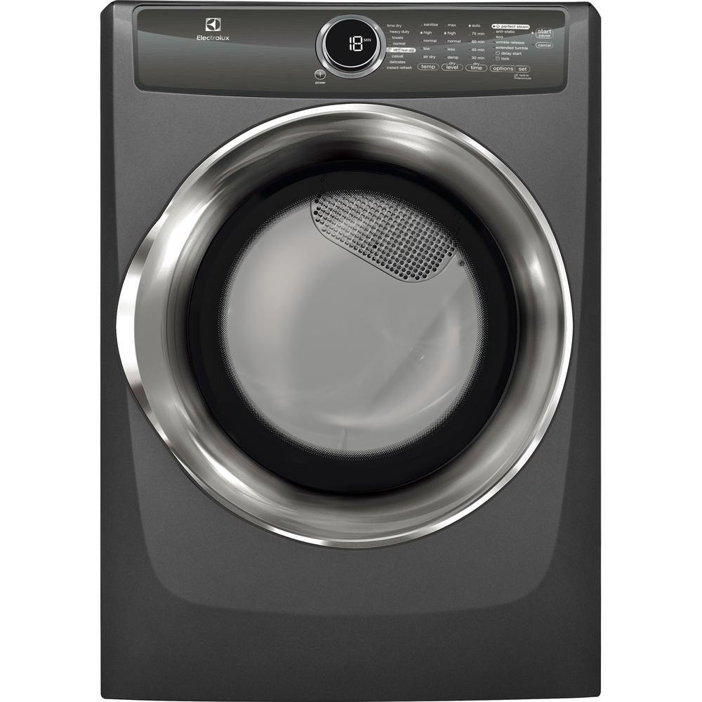 8.0 cu. ft. Electric Dryer with Steam in Titanium, ENERGY STAR