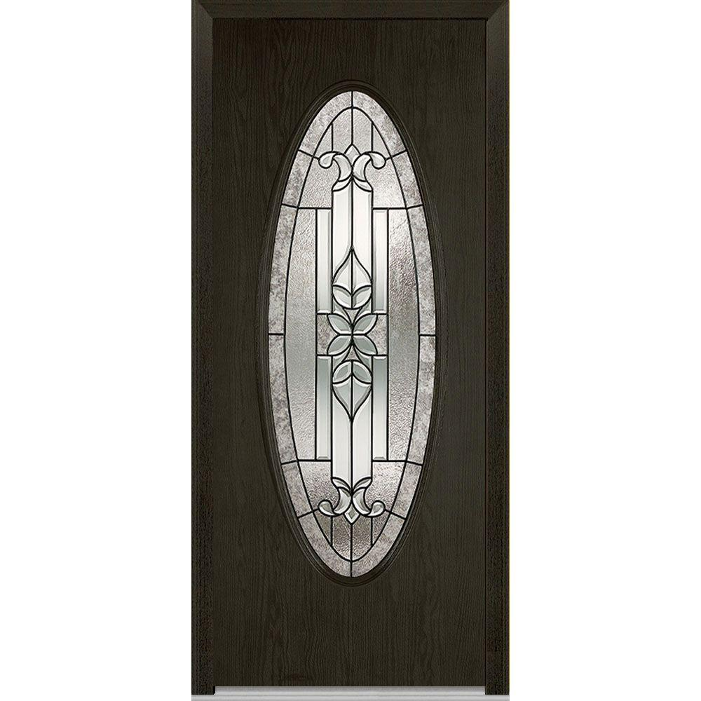 37.5 in. x 81.75 in. Cadence Decorative Glass Full Oval Lite