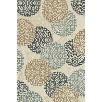 Melody Ivory 2 ft. x 4 ft. Indoor Area Rug