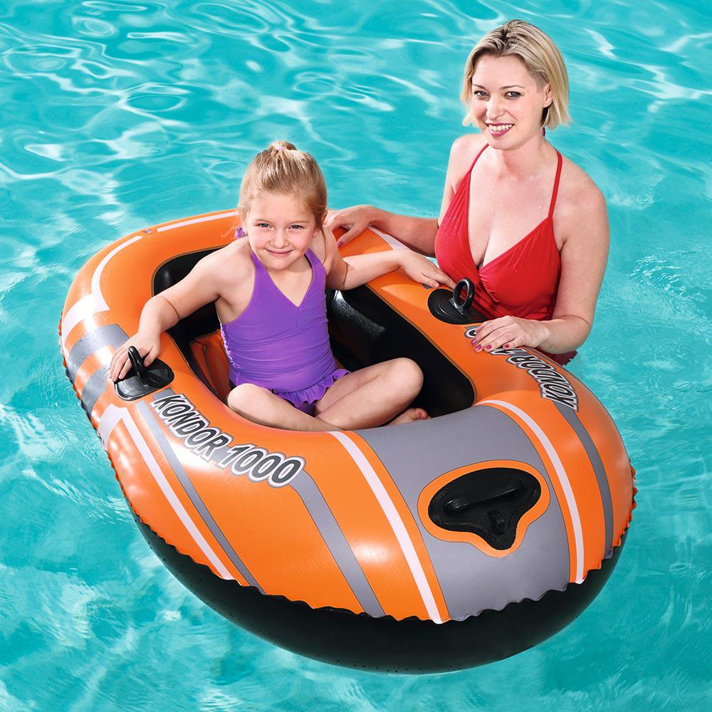 Bestway Hydroforce Kondor 1000 Inflatable Boat For Swimming Pools 61099e The Home Depot