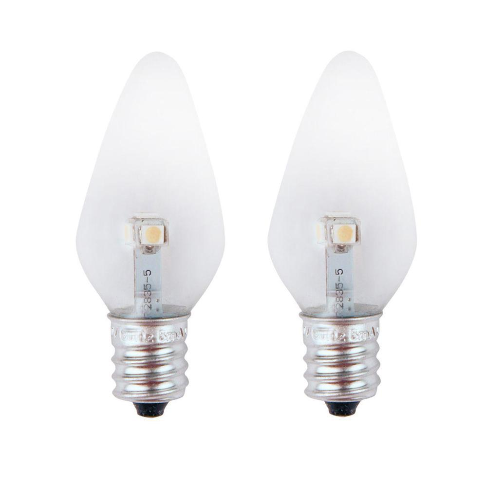 C7 Led Bulb >> Meridian 7w Equivalent Pure Green Clear C7 Non Dimmable Led