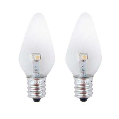 7W Equivalent Pure Green Clear-C7 Non-Dimmable LED Replacement Light Bulb (2-Pack)