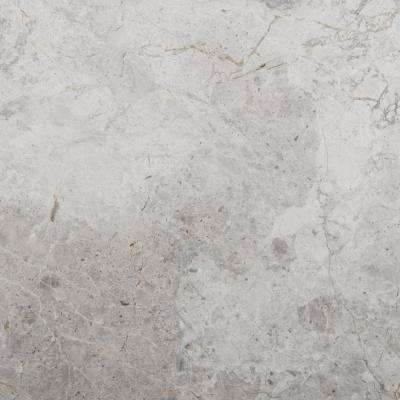 Marble Silver Polished 12.01 in. x 12.01 in. Marble Floor and Wall Tile (1 sq. ft.)
