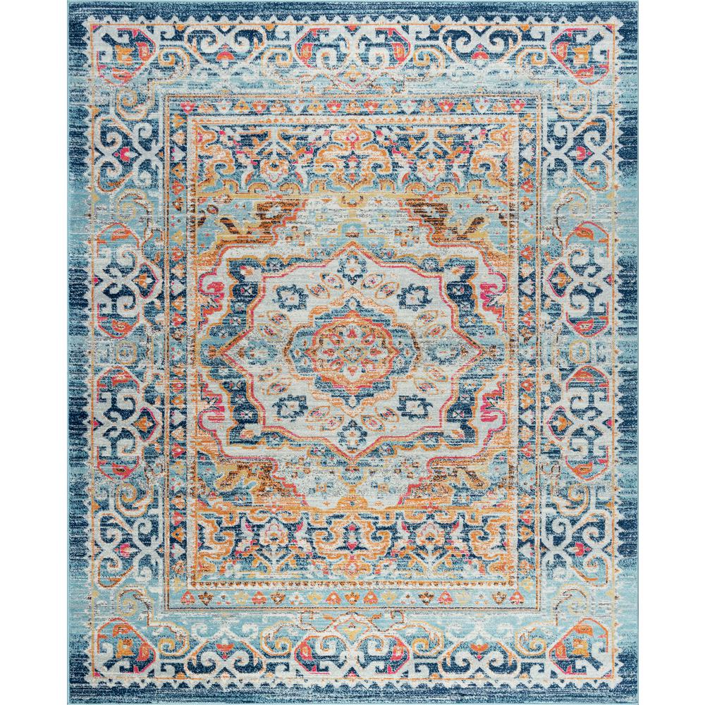 Tayse Rugs Jasmine Pink 6 Ft 8 In X 10 Ft 3 In Area Rug