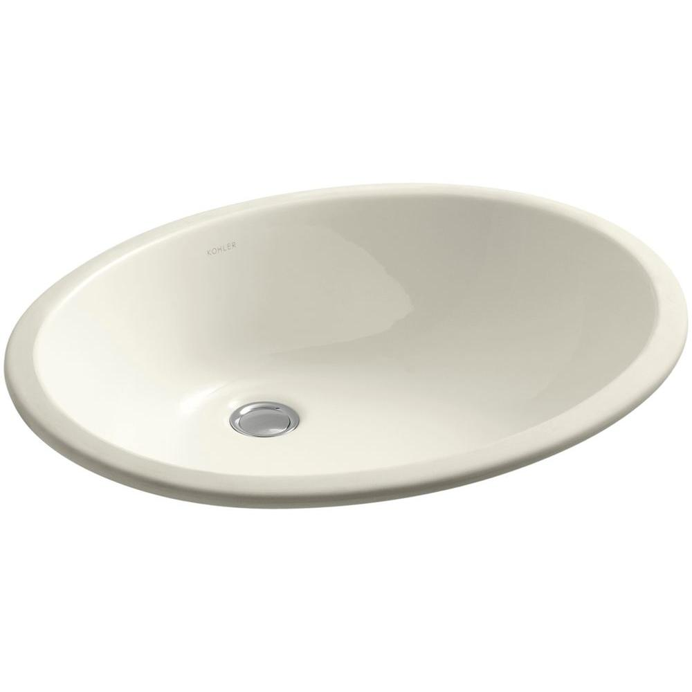 Caxton Vitreous China Undermount Bathroom Sink with Glazed Underside in Biscuit