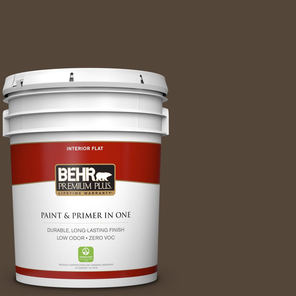 5 gal. #780B-7 Bison Brown Zero VOC Flat Interior Paint