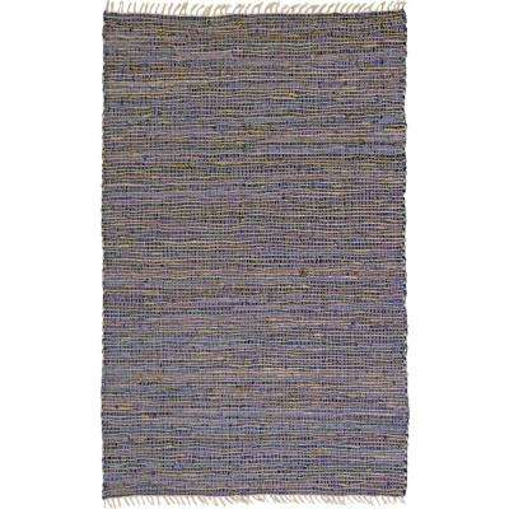 Purple Leather & Hemp 9 ft. x 12 ft. Area Rug