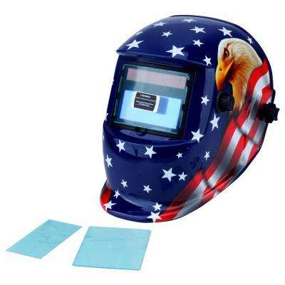 Adjustable Auto-Darkening Welding Helmet with Eagle Design