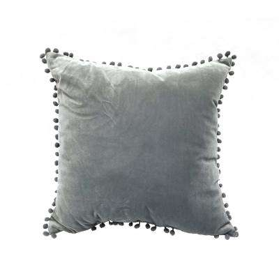 Pompom Gray Standard Decorative Pillow