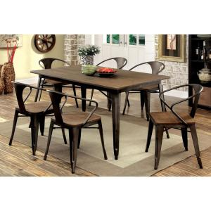 Cooper I Dark Bronze and Espresso Industrial Style Dining Table