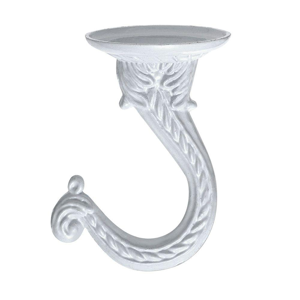 White Enamel Steel Swag Hook