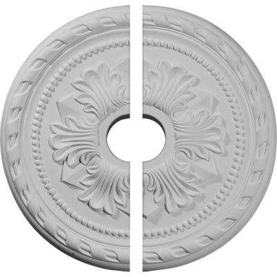 20-7/8 in. O.D. x 3-5/8 in. I.D. x 1-5/8 in. P Palmetto Ceiling Medallion (2-Piece)