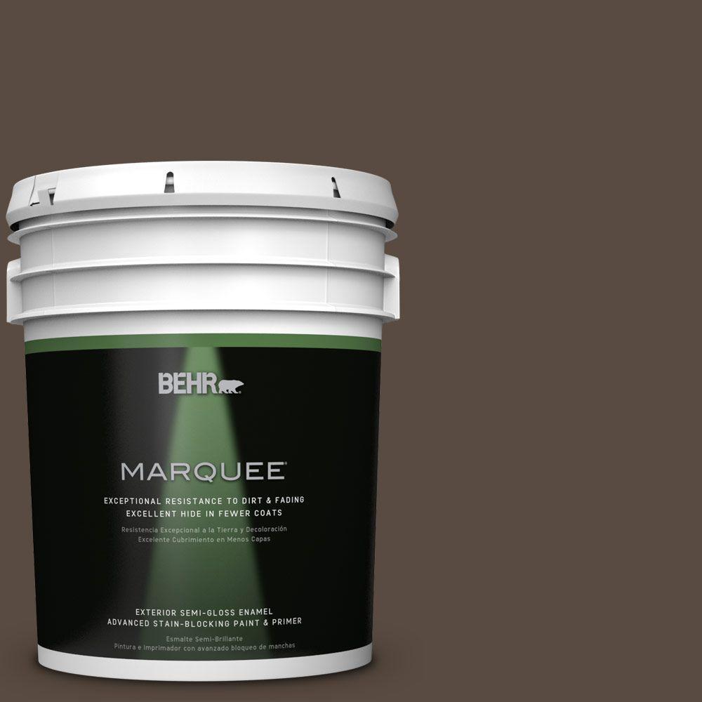 5 gal. #HDC-FL15-05 Warm Pumpernickel Semi-Gloss Enamel Exterior Paint
