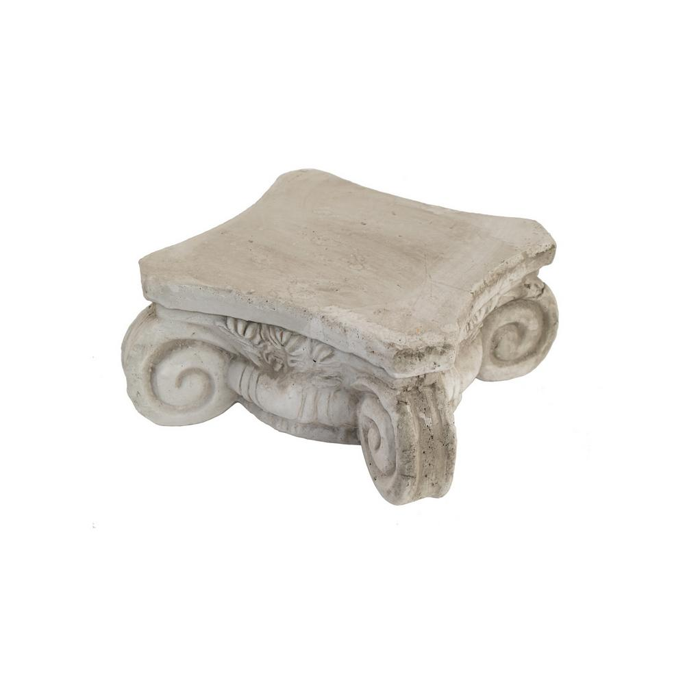 Three Hands White Pedestal Tray 96470 The Home Depot