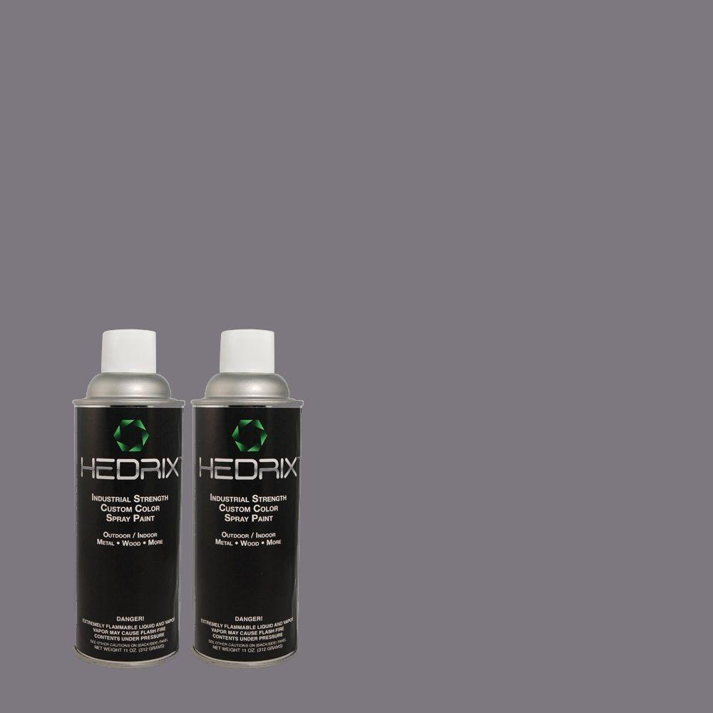 Hedrix 11 oz. Match of PPU16-17 Blue Aura Flat Custom Spray Paint (8-Pack)