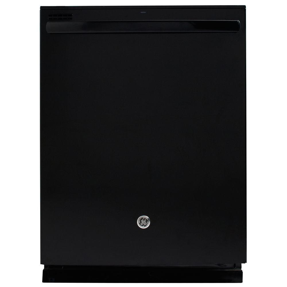 GE Top Control Dishwasher in Black with Steam Cleaning