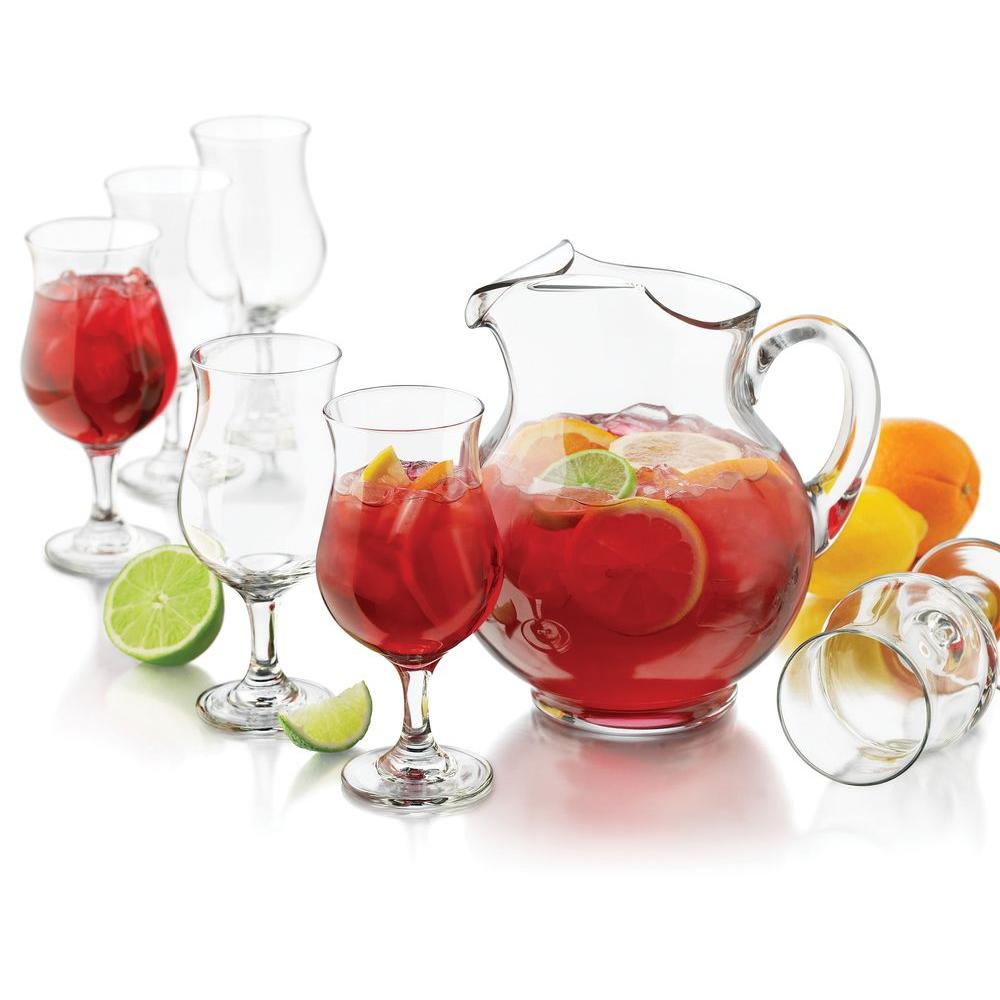 Libbey San Vicente Sangria 7-Piece Pitcher Set in Clear