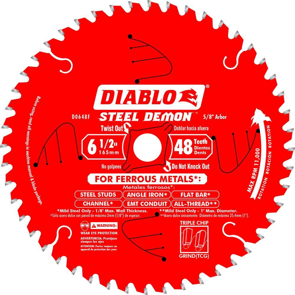 Diablo 6-1/2 in  x 48-Tooth Steel Demon Ferrous Metal Cutting Saw Blade