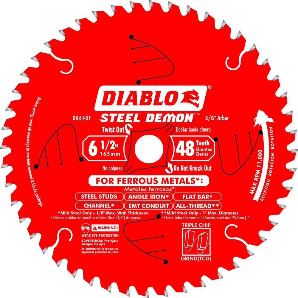 6-1/2 in. x 48-Tooth Steel Demon Ferrous Metal Cutting Saw Blade
