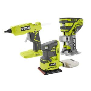 RYOBI 18-Volt ONE+ Cordless 3-Tool Kit with Assorted Tools