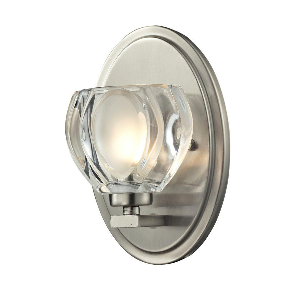Suave 1-Light Brushed Nickel Bath Vanity Light