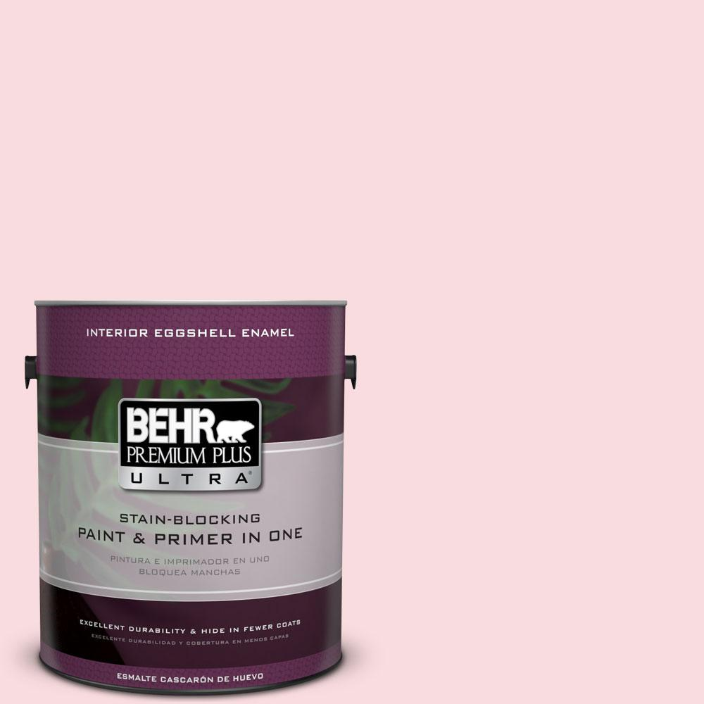 BEHR Premium Plus Ultra 1 gal. #160C-1 Floral Linen Eggshell Enamel Interior Paint and Primer in One