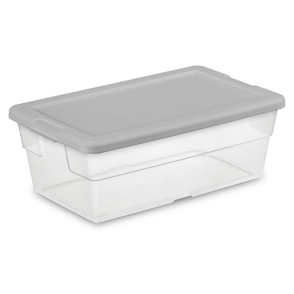 Sterilite 6 Qt Storage Box 16426a60 The Home Depot