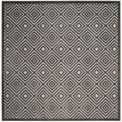 Cottage Cream/Gray 7 ft. x 7 ft. Indoor/Outdoor Square Area Rug
