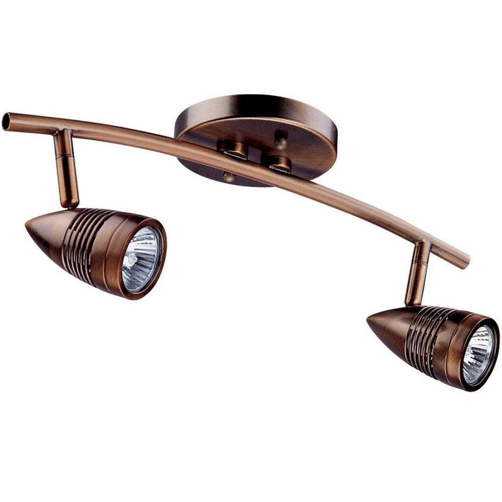 Celestial 2-Light Oil-Rubbed Bronze Track Lighting Kit with Directional Heads