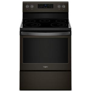 Electric Range With Self Cleaning Oven In Fingerprint Resistant Black