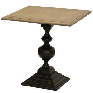 Colorado Square Top And Round Pedestal Base Grey Sand End Table