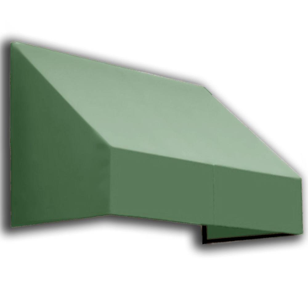 AWNTECH 8 ft. New Yorker Window/Entry Awning (56 in. H x 48 in. D) in Olive