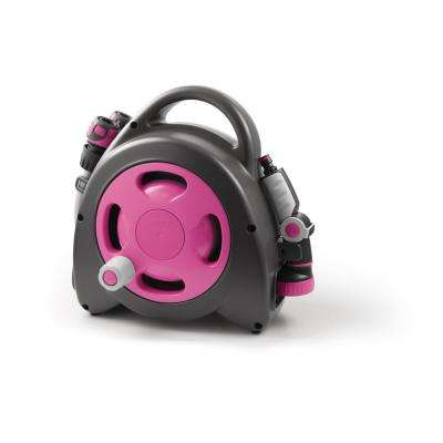 Aquabag 1 in. x 54 ft. Fuchsia Maxi Portable Hose and Reel