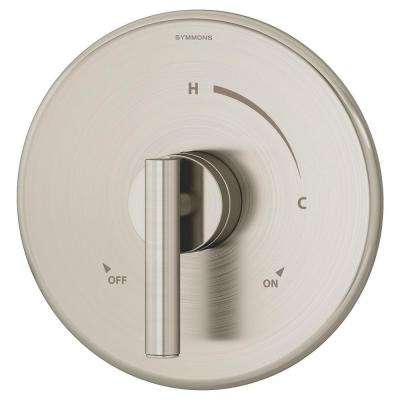 Dia 1-Handle Shower Faucet System in Satin Nickel (Valve Included)