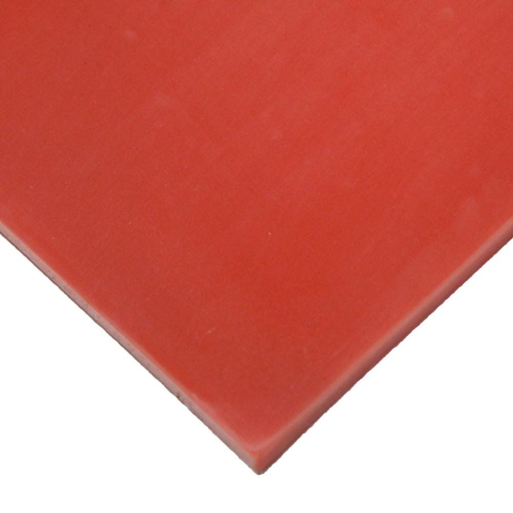 Rubber-Cal Silicone 1/4 in. x 24 in. x 12 in. Red/Orange Commercial Grade 60A Rubber Sheet