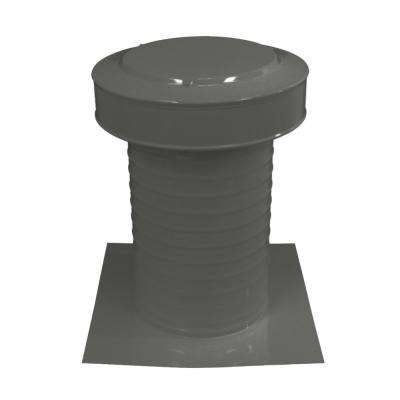 8 in. Dia Keepa Vent an Aluminum Static Roof Vent for Flat Roofs in Weatherwood