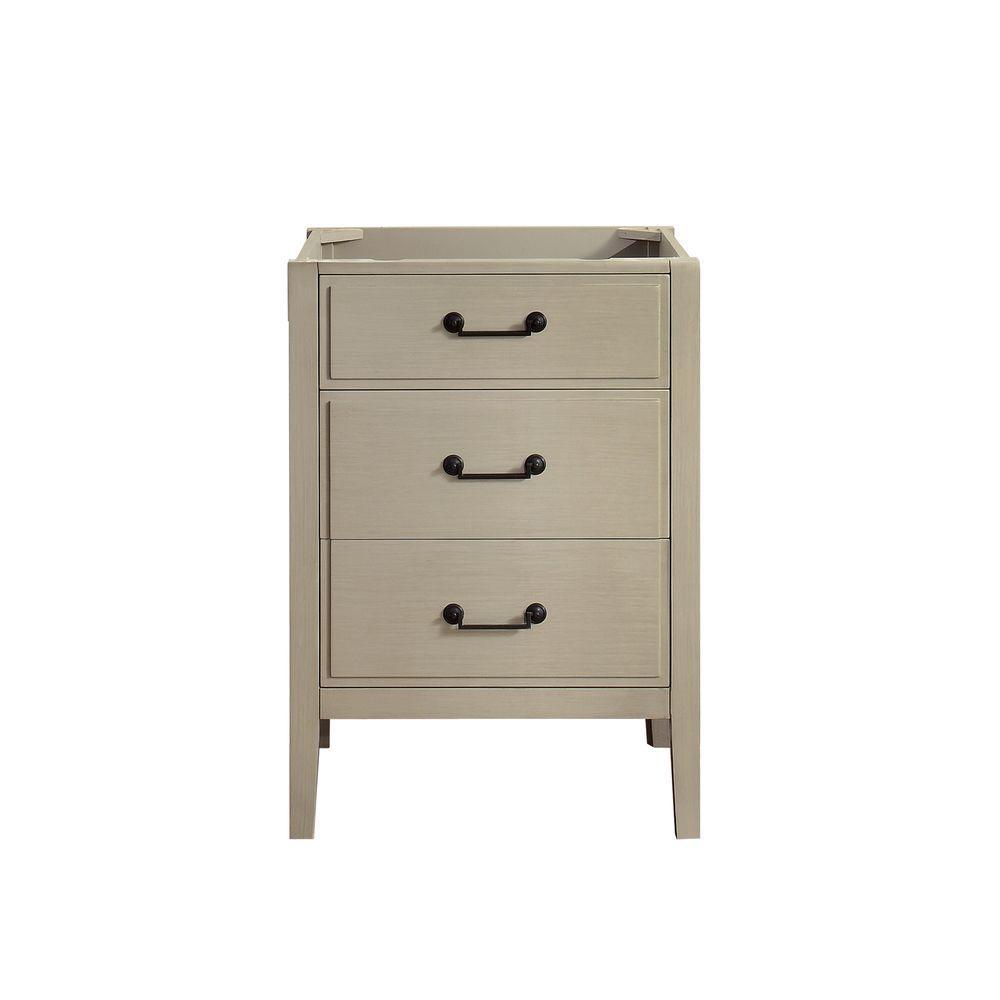 Delano 24 in. W x 21.5 in. D x 34 in. H Vanity Cabinet in Taupe Glaze