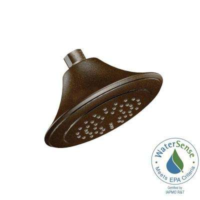 1-Spray 6-1/2 in. Eco-Performance Shower Head in Oil Rubbed Bronze