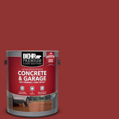 1 gal. #BIC-49 Red Red Red Self-Priming 1-Part Epoxy Satin Interior/Exterior Concrete and Garage Floor Paint