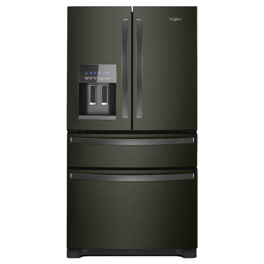 25 cu. ft. French Door Refrigerator in Fingerprint Resistant Black Stainless