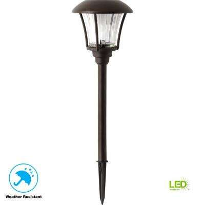 Bronze Solar Outdoor Integrated LED Landscape Path Light 10 Lumens (6-Pack)