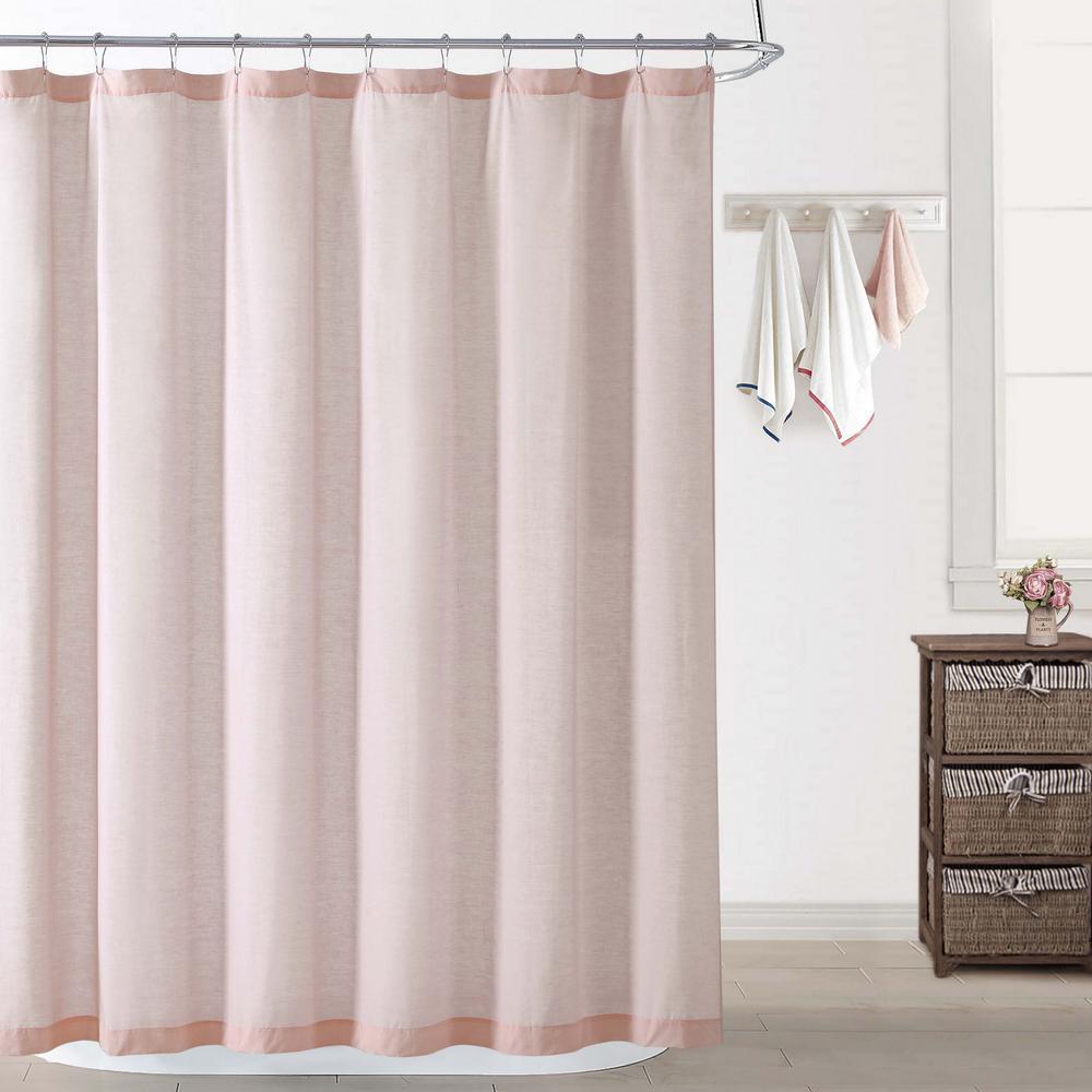 Chambray Coast Blush Shower Curtain